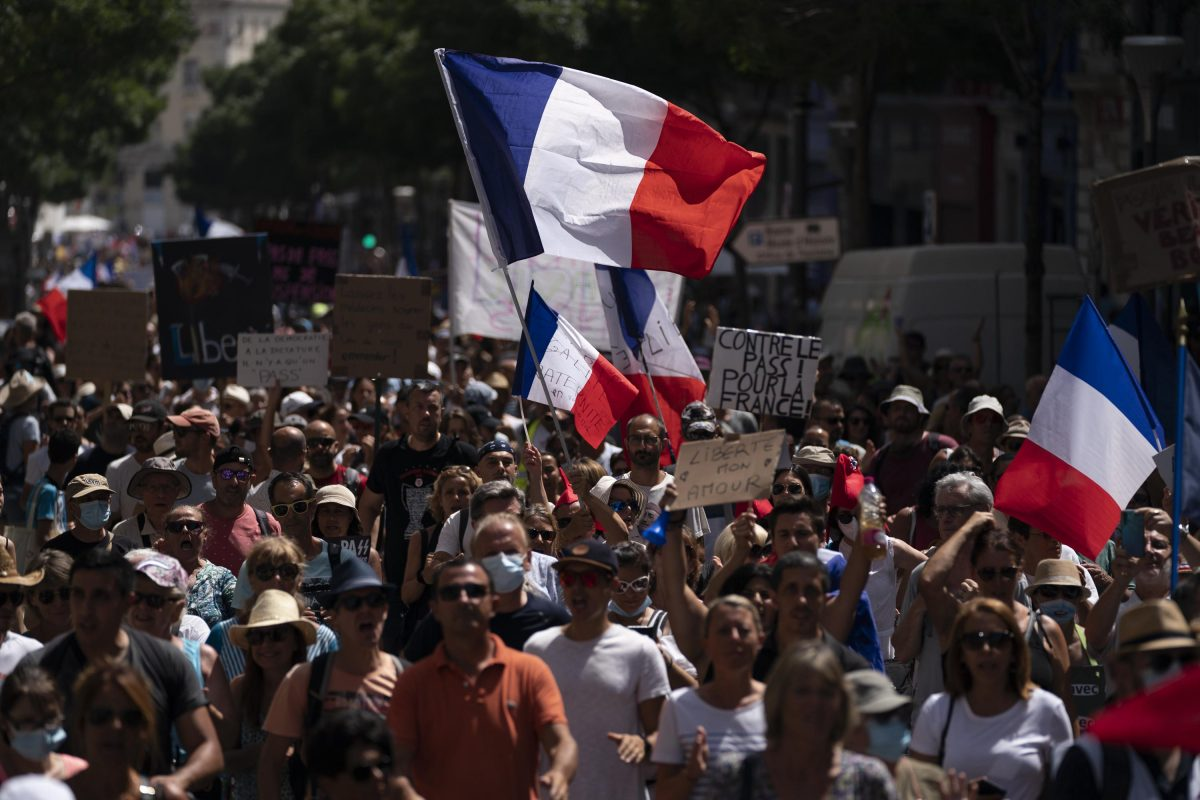 Protesters In France Denounce Covid 19 Health Pass Associated Press 1200x800